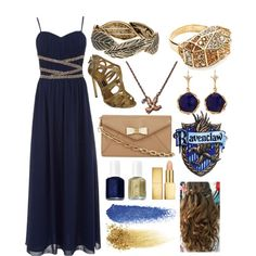 """Ravenclaw Yule Ball #2"" by flailingfangirl on Polyvore"