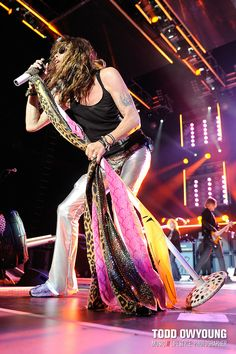 Photos of Aerosmith performing at Verizon Wireless Amphitheater on their tour opener. June 11, 2009. © Todd Owyoung.