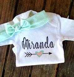feaeefce1a6  12.95 Custom baby girl onesie name onesie personalized girl Baby Girl  Gifts