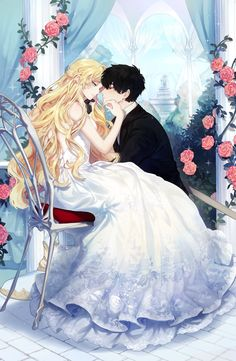Romantic Anime Couples, Romantic Manga, Cute Anime Couples, Girls Anime, Kawaii Anime Girl, Anime Art Girl, Anime Couples Drawings, Anime Couples Manga, Manga Couple