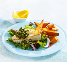 A delicious twist on the traditional fish and chips.