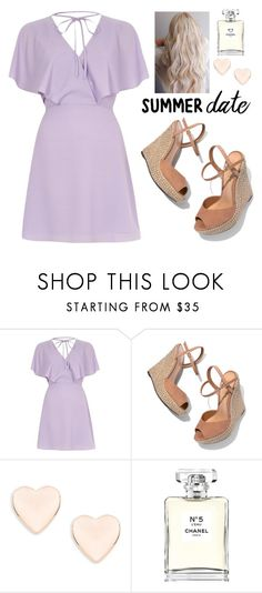 """Summer Date"" by brightheart593 ❤ liked on Polyvore featuring River Island, Schutz, Ted Baker, Chanel, cute, DateNight, summerstyle and dreamydresses"