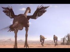 Oviraptorid fights to protect nest - Planet Dinosaur - BBC