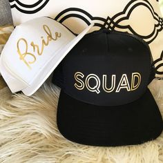 Check out the deal on Bride Squad Hats at Wedding Favorites | Unique Wedding Favors | Baby Shower Favors | Bridal Shower Favors