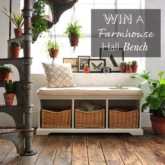 Win our gorgeous Farmhouse Painted Hall Bench for your home. Competition closes midnight 31st July