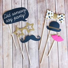 Pop! Photo Booth Props for Engagement, Rehearsal dinner, Wedding (($))