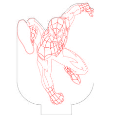 Spiderman 6 illusion vector file for CNC - Woodworking Projects, Woodworking Wood, Drawing Sketches, Drawings, 3d Light, Lampe Led, Vector File, Plexus Products, Laser Cutting