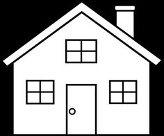 House Outline Clipart Black And White   Clipart Panda - Free ...