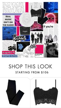 """""""i couldnt wait til i could be seventeen"""" by glued-together ❤ liked on Polyvore featuring Chanel, Too Late, GE, J Brand and Topshop"""