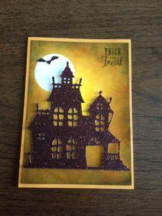 Halloween card using Close To My Heart Artbooking cricut cartridge. Love this card!!