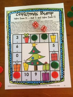 Christmas Math Games Second Grade by Games 4 Learning for bringing some fun, Christmas math into the classroom. This collection of Christmas math games contains 14 printable games. $