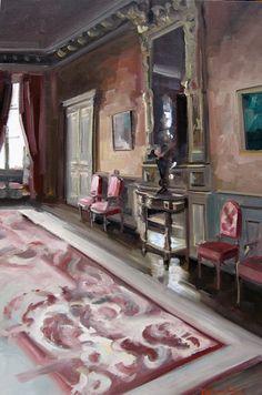 LE PALAIS D'ORSAY Huile sur toile 116 x 73 cm Christoff Debusschere