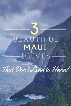 While we love the road to Hana, there are other stunning drives on the Island of Maui. Why not try out these 3 drives when you're next on Maui? Save this to your inspiration board, so you remember later! Honeymoon Vacations, Hawaii Honeymoon, Aloha Hawaii, Lahaina Hawaii, Visit Hawaii, Family Vacations, Hawaii Wedding, Hawaii Travel Guide, Maui Travel