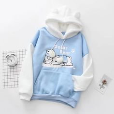 hai chú gấu Polar Bear - -�o hoodie hai chú gấu Polar Bear - - 2018 New BTS Hoodie Bangtan Boys Hoodies Casual Sweatshirt Tops Pullovers Kpop Fans Clothes Solid Cotton Harajuku Kawaii Tops Top Womens Christmas Gifts 2016 Kawaii Fashion, Cute Fashion, Teen Fashion, Korean Fashion, Color Fashion, Pastel Fashion, Lolita Fashion, Petite Fashion, 70s Fashion