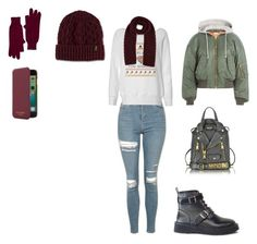 """""""Untitled #127"""" by elma-alibasic ❤ liked on Polyvore featuring Topshop, Vetements, Moschino, Dr. Martens, Skull Cashmere and Ted Baker"""