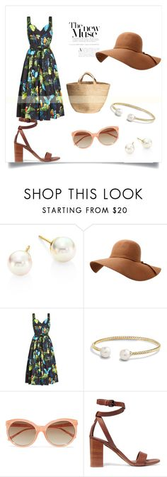 """Tropical Muse"" by ofwfasion on Polyvore featuring Majorica, Marc Jacobs, David Yurman, Linda Farrow and Vince"