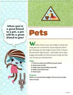 Girl Scout Brownie Pets Badge. Whether they're cute and cuddly, or ...