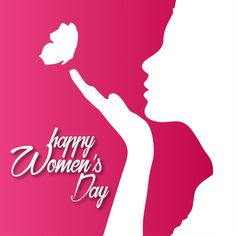 Red background with a silhouette for woman's day Free Vector Women's Day 8 March, 8th Of March, Women's Day Status, Happy Womens Day Quotes, Wallpaper For Whatsapp Dp, Happy International Women's Day, Happy Woman Day, Wishes Messages, Wish Quotes