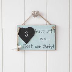 Days Until We Meet Our Baby Chalk Board