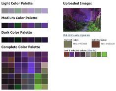 Teldrassil Night Elf Forest color palette