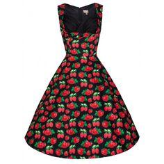 Lindy Bop Ophelia 50's Dress Strawberry