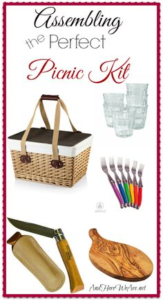 Assembling the Perfect Picnic Kit   And Here We Are... #summer #picnic #summertime   *nice gift idea