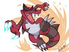 Krookodile by RinaTiger-Art Pokemon Manga, Pokemon Sun, Pokemon Fusion, Pokemon Games, Cute Pokemon, Emboar Pokemon, Equipe Pokemon, Best Pokemon Ever, Pokemon Backgrounds