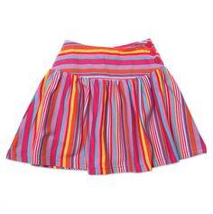 Toddler Multi Stripe Yoke Skirt - Zutano Toddler Trends - Events