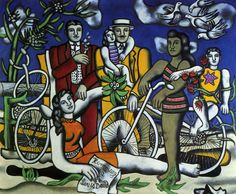 Leisures on red bottom, 1949 - Fernand Leger