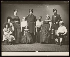 [Photograph of group of performers including giants. Skinny Guys, Archives Of American Art, Albino, Joseph, Beauty, Fat Women, Sideshow, Vintage Ephemera, Public Domain