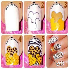 Heart ... Nail Art Design Tutorial