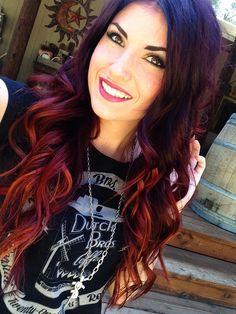 New hair highlights red caramel Ideas Love Hair, Great Hair, Gorgeous Hair, Red Hair Color, Brown Hair Colors, Haircut And Color, Estilo Retro, Ombre Hair, Pretty Hairstyles