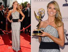 Heidi Klum In Roland Mouret - 2013 Creative Arts Emmy Awards