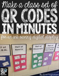 Step by step workflow for quickly creating QR codes that link to student digital work for displays and bulletin boards