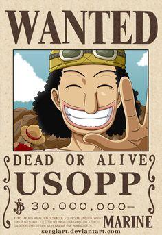 One Piece - Usopp wanted poster? by SergiART.deviantart.com on @DeviantArt