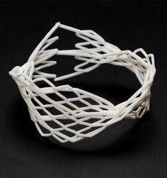 3d printed jewelry, parametric design, bracelet, spinne