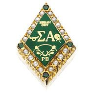 Crown Pearl Badge with Synthetic Emerald Points, Alpha Gamma Rho, Alpha Letter, Sorority And Fraternity, Greek Life, Badge, Clemson, Pearls, Phone Backgrounds, College Life