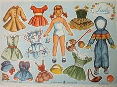 10 different paper-doll sets. Each has a link to more outfits.
