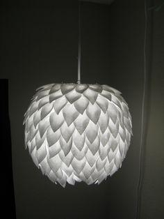 DIY: petal lamp