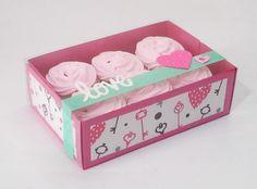 Caja para 6 cupcakes estampada con llaves y corazones                                                                                                                                                                                 Más