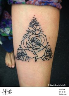 David Boterhoek Tattoo - Triangle of Roses