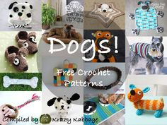 Welcome to my round-up of all things dog! This post features many dog related items all with free crochet patterns. I recently made a collection of free cat crochet patterns that has been really po… Crochet Dog Sweater Free Pattern, Crochet Dog Patterns, Sewing Patterns Free, Free Crochet, Cat Crochet, Knitting Patterns, Sewing Stuffed Animals, Stuffed Animal Patterns, Beginner Crochet Projects