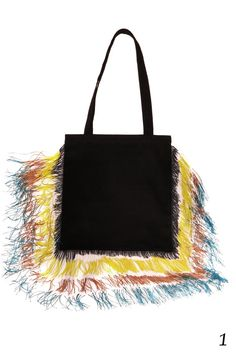 cotton totewith handpainted fringesand small inside-pocket40x37cm2 long handlesjust type in the picture-number of the colors you wantin the