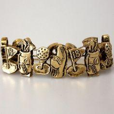 Golf Themed Fan Sport Team Slider Charm Bracelet Magnetic Clip Jewelry Gift #TeamMomFanwear #Slider