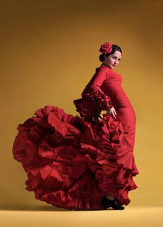 In the bottom of Flamenco dress, there are usually a lot of ruffle details. So charming.