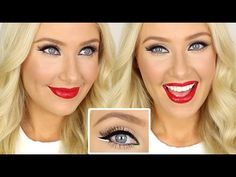Christmas Inspired Makeup Tutorial! // Lauren Curtis YouTube