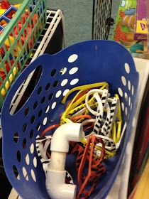 Love this idea a classroom teacher uses in her reading nook in her classroom. Reading phones made from PVC pipes and reading glasses