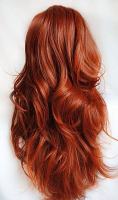 Perfect copper- gorgeous long full bodied hairstyle