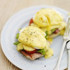Avocado eggs benedict. For the full recipe, click the picture or visit Redonline.co.uk