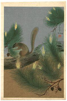 Bakufu Ono 1888-1976 - Squirrel - artelino Art Auctions.